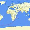 Учёные рассчитали самый длинный в мире прямой сухопутный маршрут: 11241км