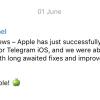После жалобы Павла Дурова Apple пропустила первое с апреля обновление «Телеграма» для iOS-пользователей