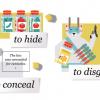 Три варианта слова «спрятать» на английском и другие синонимичные ряды