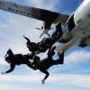 Определение баллистико-временных характеристик движения центра масс парашютиста, десантированного с самолёта