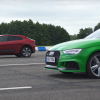 Audi RS3 и Jaguar I-Pace сравнили в дрэг-гонке