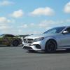 Mercedes-AMG E63 S и GT R сравнили в дрэг-гонке