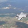 F-35A промчался в горах на бреющем полёте