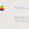 Визитку Стива Джобса купили за $6259