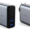 Зарядное устройство Satechi 75W Dual TYPE-C PD Travel Charger располагает двумя портами USB-A и парой USB-C
