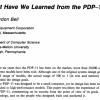 Чему нас научила PDP-11?