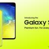 Официальный постер демонстрирует желтый Samsung Galaxy S10e