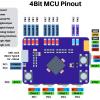 Виртуальный 4-битный микроконтроллер с программированием тремя кнопками и четырьмя переключателями