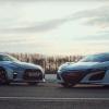 Honda NSX выставили против Nissan GT-R