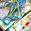 Семисегментный дешифратор, использующий как прямые, так и инверсные выходы BCD-счётчика