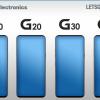LG выпустит смартфоны G10, G20, G30 и G40
