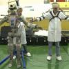 Первые видеокадры с роботом FEDOR (Skybot F-850) с Байконура и его размещение в кресле пилота
