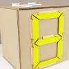 """Как сделать """"электронный"""" циферблат из картона и резинок"""