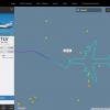 Boeing 747 «нарисовал» в небе свой силуэт
