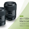 Представлен объектив Tokina atx-i 100mm F2.8 FF Macro