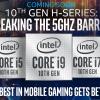 8 ядер, 16 потоков и частота выше 5,0 ГГц для модели Core i7. Intel анонсировала мобильные процессоры Comet Lake-H