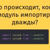 Что происходит, когда JS-модуль импортируют дважды?