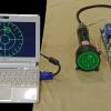 Симуляция радара истребителя на 3″ осциллографической ЭЛТ
