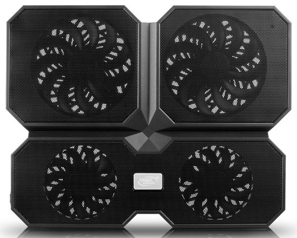 «Многоядерная» охлаждающая подставка Deepcool Multi Core X6 получила четыре вентилятора