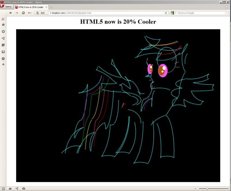 «Паскалевская графика на HTML5» или «Что Opera сделала с Rainbow Dash»