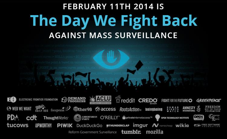 11 февраля протест против массовой слежки NSA