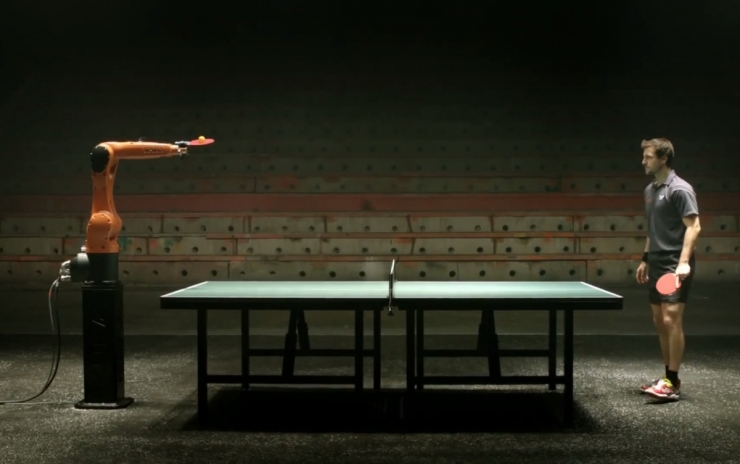 11 марта состоится поединок в пинг понг между машиной и человеком (Тимо Болль)
