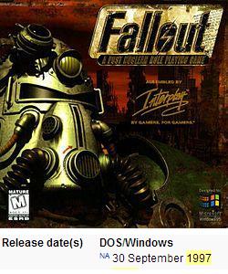 15 лет назад мир увидел Fallout
