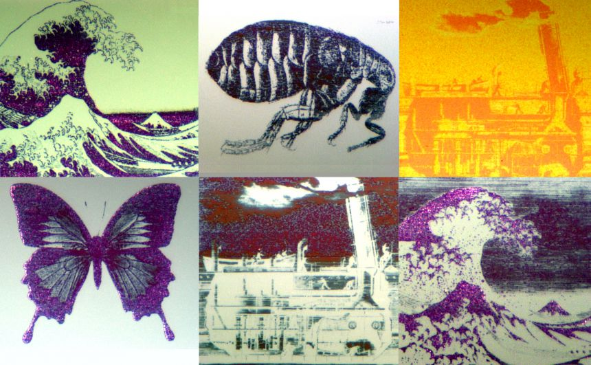 A collection of still images drawn with the technology