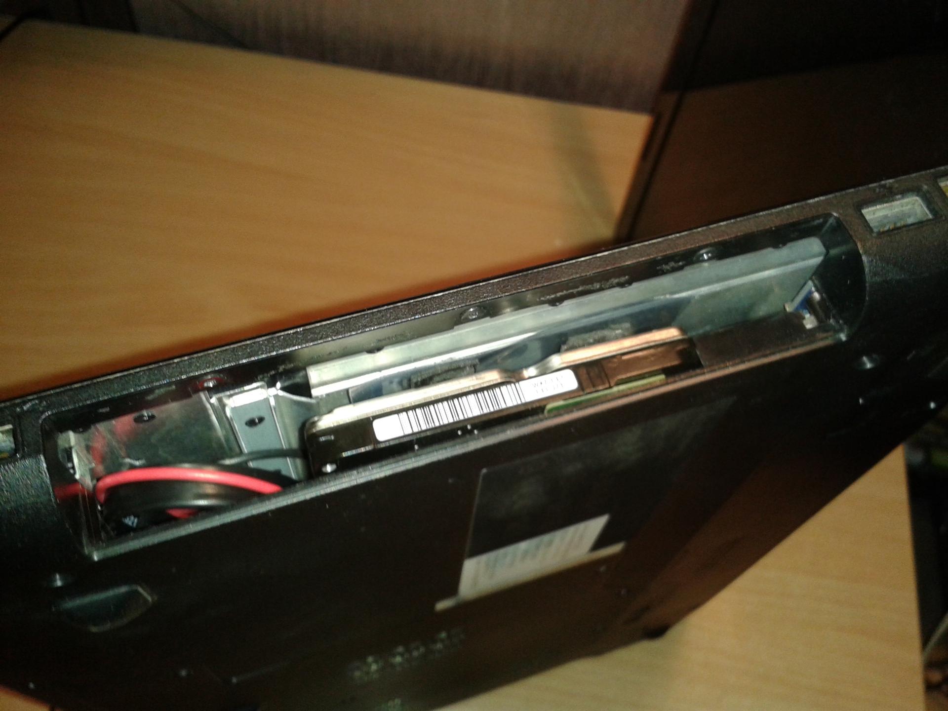 Жесткий диск вместо привода ноутбука своими руками