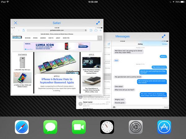 iPad Air 2, новый режим многозадачности