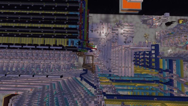 ПЗУ на 1 килобайт из блоков Minecraft