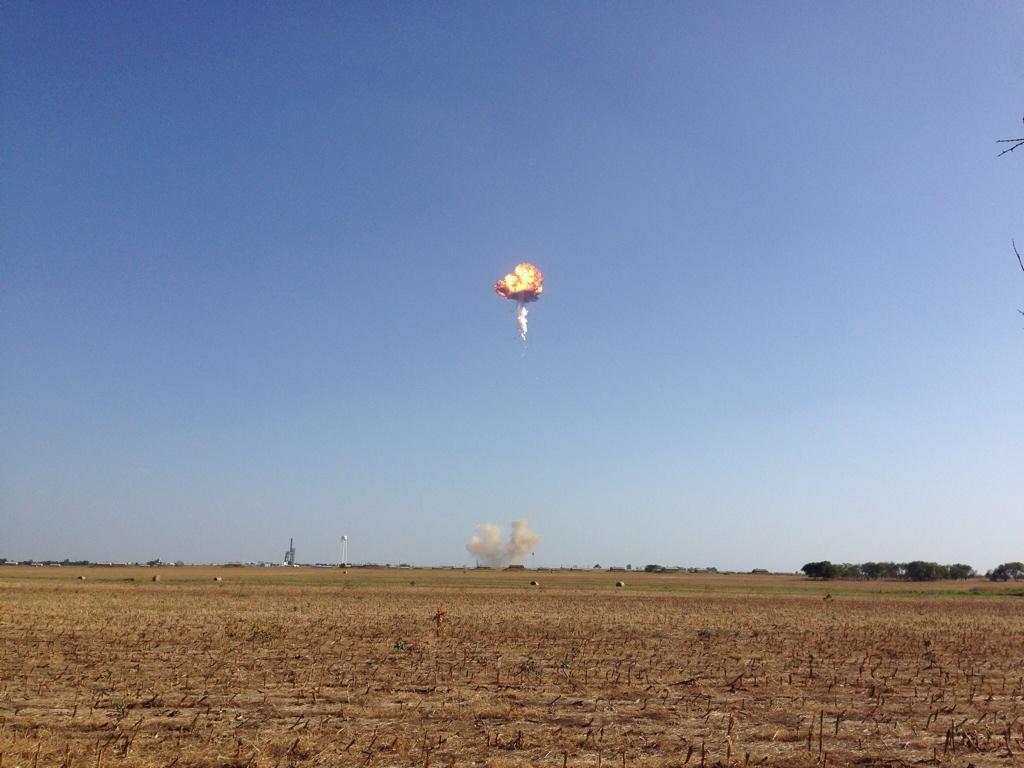 Во время испытаний взорвался прототип Falcon 9 R