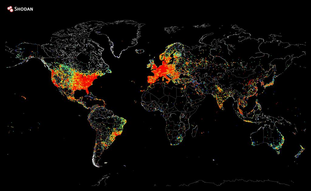 Владелец поисковика Shodan пропинговал весь интернет и составил его карту