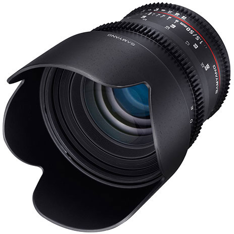 Оптическая схема объектива Samyang 50mm T1.5 AS UMC состоит из девяти элементов в шести группах