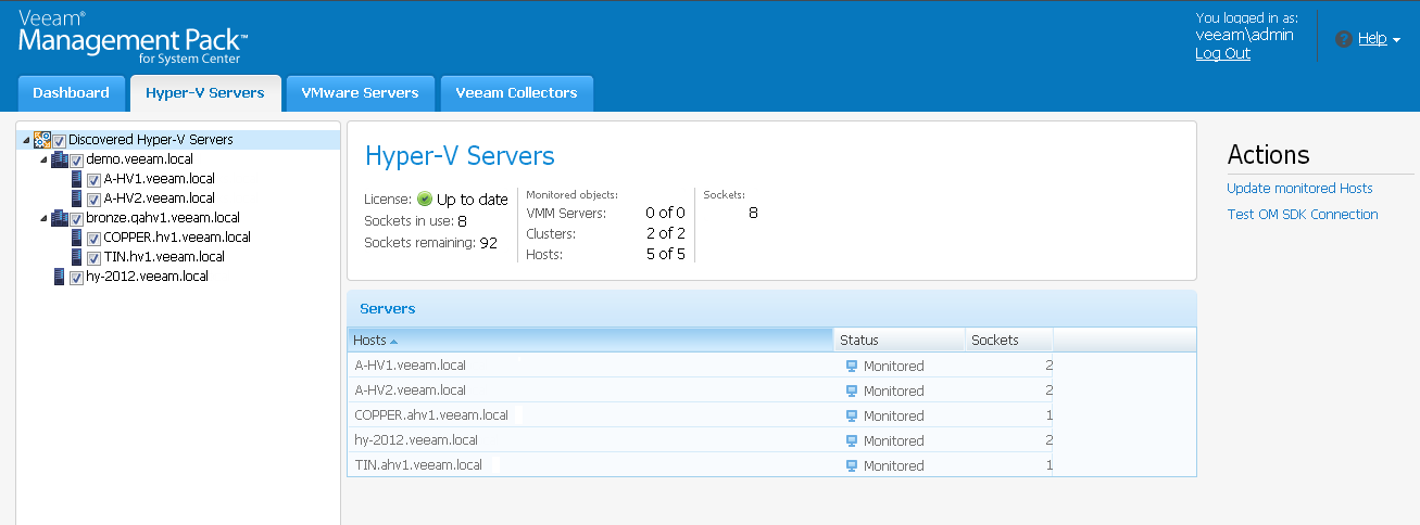 Veeam Management Pack v7 - Hyper-V