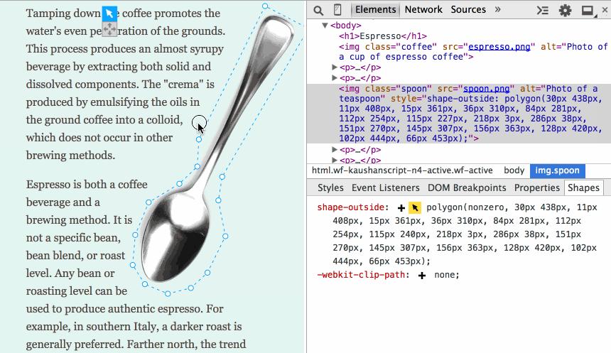 Редактор CSS Shapes для Chrome