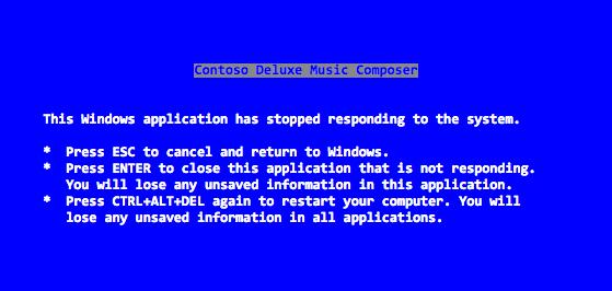 Текст «синего экрана смерти» написал лично Стив Балмер