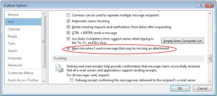 Настройки Microsoft Outlook