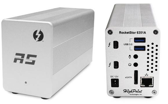 Габариты HighPoint RocketStor 6351A — 17,8 х 10,2 х 7,6 см