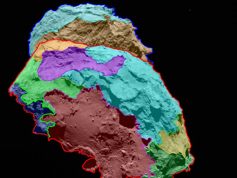 Ученые построили карту кометы Чурюмова Герасименко на основе изображений высокой четкости