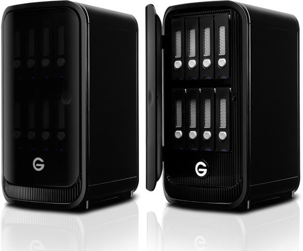 Хранилище G-Technology G-Speed Studio XL имеет восемь отсеков для накопителей