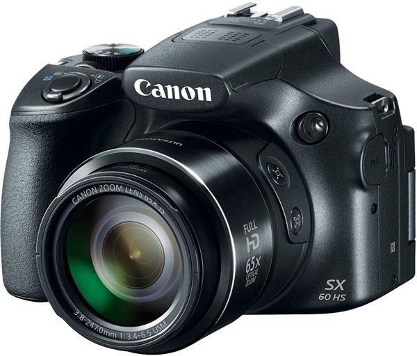 Камера Canon PowerShot SX60 HS поддерживает съемку видео Full HD с кадровой частотой до 60 к/с