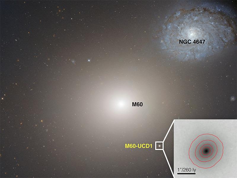 Сверхмассивная чёрная дыра в центре маленькой галактики