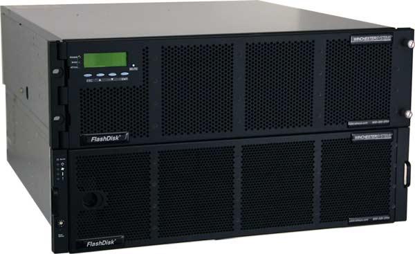 Хранилища Winchester Systems FlashDisk RAID могут быть оснащены интерфейсами Fibre Channel, SAS и iSCSI