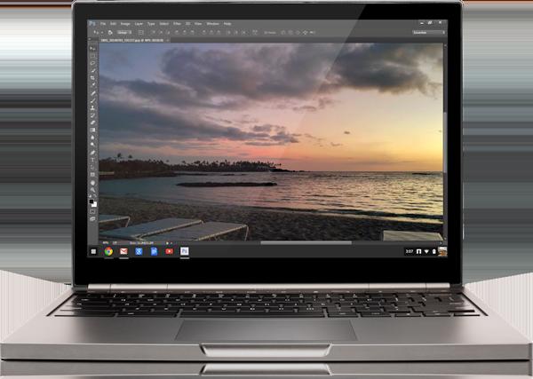 Adobe представила стриминговую версию Photoshop для ChromeOS
