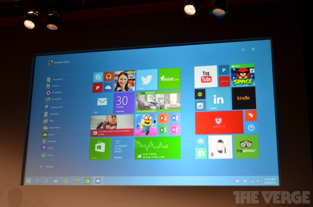 Microsoft представила Windows 10 (уговаривает корпоратов не разбегаться)