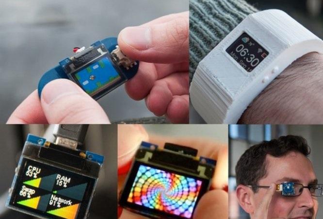 TinyScreen + TinyDuino — легкий способ создать умные часы или умные очки своими руками