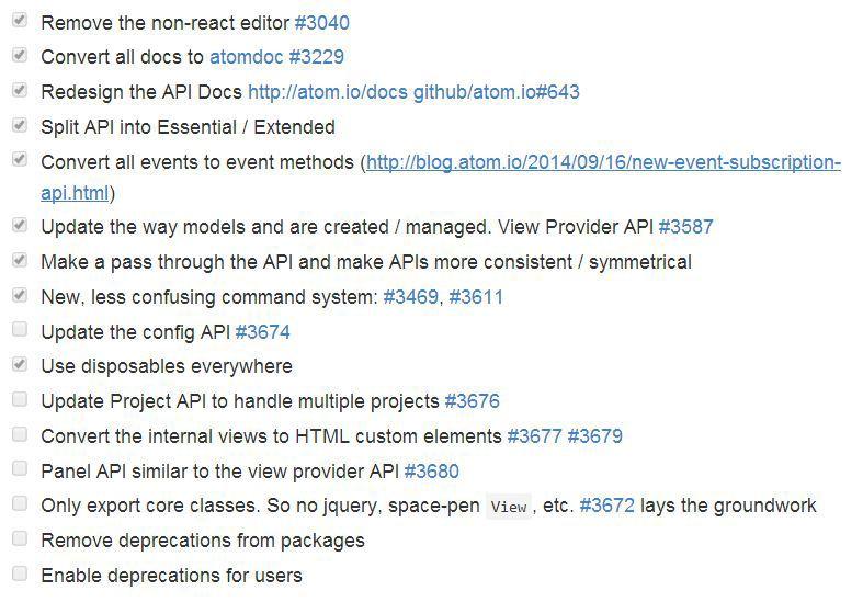 IDE Atom от GitHub. Опубликован roadmap к версии 1.0