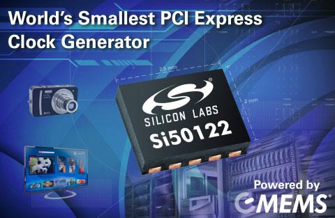 Генератор Si50122 предназначен для устройств потребительской электроники