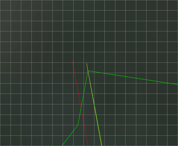 Расхождение локсодромы, построенной в Web Mercator, с остальными линиями